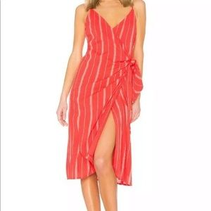 Amuse society red striped bordeaux blooms wrap S